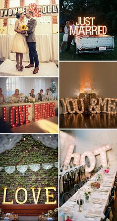 Marquee Wedding Signage