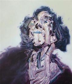 (The Mistress of Breadalbane, Glenn Brown. English, born in 1966)  It's really amazing!