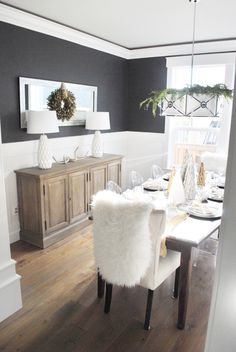 No Matter The Holiday Neutral Paint Colors Are Always In Season This Time Of Dining Room Wallsgrey