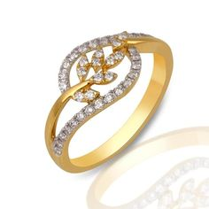 Total Diamond Color : I/J. Total Diamond ctw : Total Diamond Clarity : Ring Size US. Ring size customisation is available at no extra cost. Weird Jewelry, Gold Rings Jewelry, Womens Jewelry Rings, Diamond Jewelry, Diamond Rings, Gold Ring Designs, Gold Earrings Designs, Gold Jewellery Design, Gold Chain Indian