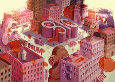 GIC City, P&G by Iker Muro, via Behance