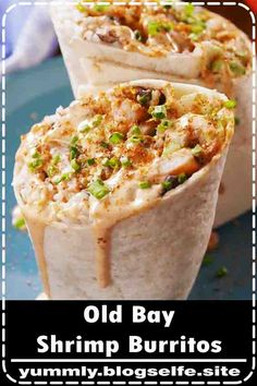 Bay Shrimp Burritos Old Bay lovers: This is the BEST thing to do with shrimp. Get the recipe at .Old Bay lovers: This is the BEST thing to do with shrimp. Get the recipe at . Argula Recipes, Coliflower Recipes, Shrimp Recipes, Mexican Food Recipes, Dinner Recipes, Food Shrimp, Rice Recipes, Chipotle Menu, Gastronomia