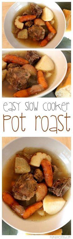 Simple Crock-Pot Beef Pot Roast and Gravy Recipe