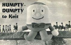 Humpty Dumpty Knitting Pattern : Kipper toys 1 vintage toy knitting pattern hippo big by Ellisadine, ?2.00 V...