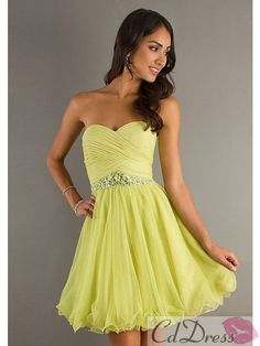 Sheath/Column Strapless Sweetheart Chiffon Prom Dress - Bridesmaid Dresses - Wedding Party Dresses - CDdress.com