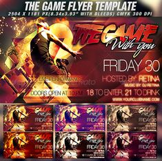 The Game Flyer Template — Photoshop PSD #unique #ticket • Available here → https://graphicriver.net/item/the-game-flyer-template/786695?ref=pxcr
