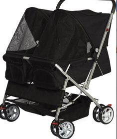 Double Stroller For Dogs Strollers Small Dog Baby Cats Pet Pets Foldup Light NEW #OxGord