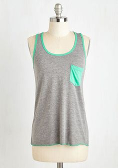 You've Got it Badminton Top in Grey. A knack for backyard games and a gift for lively ensembles puts you and this grey tank on a terrific team! #grey #modcloth