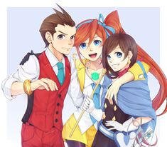 Nice+to+meet+you!+by+maesketch.deviantart.com+on+@deviantART Apollo Justice, Athena and Trucy