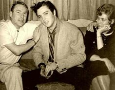 Elvis (& DJ Daddy-O Dewey Phillips) in this classic 1954 photo taken during the very 1st week of his career?