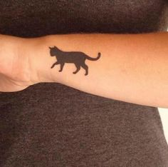 Put your love for cats in ink with these clever cat tattoos. #CatTattoo
