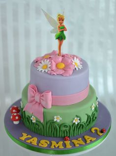 Wonderful Picture of Tinkerbell Birthday Cake . Tinkerbell Birthday Cake Pin Carissa Smith On Ansityns Tinker Bell P Tinkerbell Birthday Cakes, Fairy Birthday Cake, 4th Birthday Cakes, Birthday Cake Pictures, Tinkerbell Party, Princess Birthday, Bolo Tinker Bell, Bolo Fack, Cake Clipart