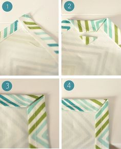 Simple Sew Kitchen Towels - steps for perfect corners for towels or linen napkins. steps for perfect corners for towels or linen napkins (yeah right like I& gonna do this) but it& a neat idea for someone that actually sews. Sewing Tutorials, Sewing Hacks, Sewing Patterns, Sewing Tips, Sewing Ideas, Fabric Crafts, Sewing Crafts, Sewing Projects, Techniques Couture