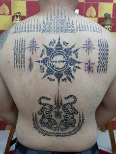 #traditional Thai tattoo#sak yant Thai tattoo#done by Bangkok ink#