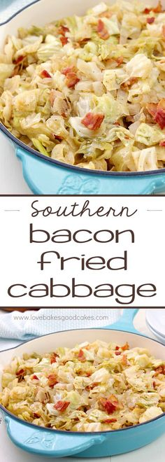 Southern Bacon-Fried Cabbage ~ it's hard to believe that such simple ingredients can result in such a flavorful and delicious side dish!