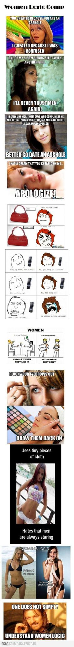 Women's logic...sadly true...