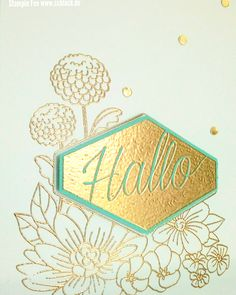 stampin new catalog 2018 2019 neuer Katalog accented Blooms blumiges Etikett embossing gold