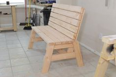 Ted's Woodworking Plans - Build a Beautiful Bench with These Free DIY Woodworking Plans: Free Bench Plan at Jays Custom Creations Get A Lifetime Of Project Ideas & Inspiration! Step By Step Woodworking Plans 2x4 Furniture, Woodworking Furniture, Furniture Projects, Wood Projects, Woodworking Projects, Building Furniture, Woodworking Basics, Furniture Removal, Woodworking Magazine