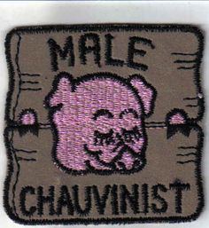 Male Chauvinist  1970's New Vintage Patch Applique by TesoroViejo, $1.85
