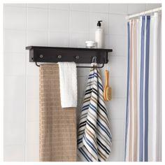 IKEA HJÄLMAREN towel hanger/shelf