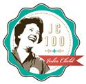 Awesome and gorgeous -- 100 years of Julia Child. Really cool badge.