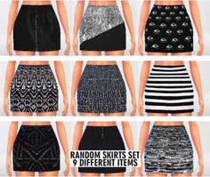 Clothing: High Waisted Skirts Set from Pure Sims • Sims 4 Downloads