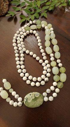 Japamala 108 - Howlita/Jade