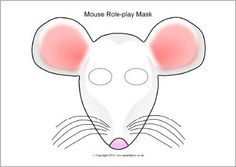 mouse mask template printable - mouse pattern use the printable outline for crafts