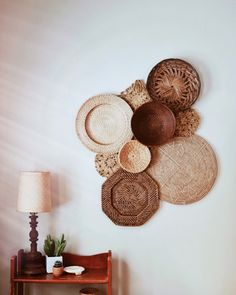 Set by Kindred Finds Basket Set by Kindred Finds on Basket Set by Kindred Finds on Deco Studio, Basket Decoration, Deco Design, Baskets On Wall, Luxurious Bedrooms, New Wall, Home Decor Inspiration, Decor Ideas, Home Living Room