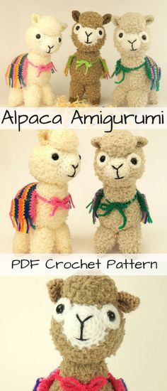 Alpace amigurumi crochet pattern. Make your own little bundle of fluff #alpaca #ad #crochetpattern