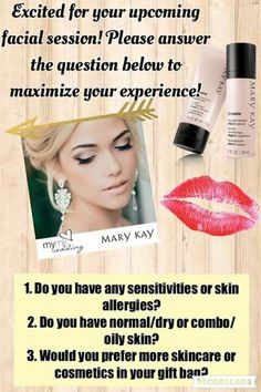 Mary Kay pre profile questions