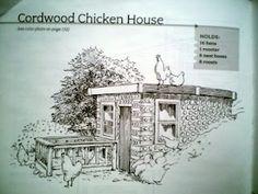 Cordwood chicken coop
