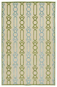 Five Seasons FSR105-50 Green Indoor/Outdoor Rug