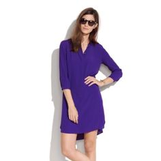 Madewell tunic dress Gorgeous long sleeve tunic dress made by Broadway and Broome for Madewell. Great rayon material, uber comfortable. Throw this on and go! Madewell Dresses