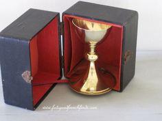 Antique French Sterling Silver Minerve 2 & Gold Metal Chalice by Villard et Fabre of Lyon in Original Case www.fatiguedfrenchfinds.com