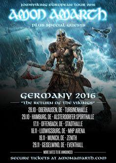 nice Amon Amarth kommen auf Jomsviking Europa Tour – Tickets ab Donnerstag bei Metaltix