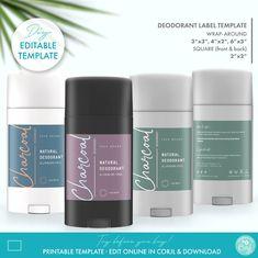 Custom Fonts, Custom Labels, Cosmetic Labels, Online Labels, Blank Labels, Essential Oil Bottles, Label Templates, Natural Deodorant, Printing Labels