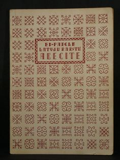 PRIMER OF LATVIAN DECORATIVE DESIGNS by Ed. Paegle 1948 Latvia Illustrated Soft.