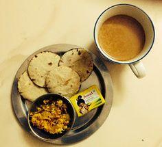 Kids roti and tea for me! mini mini roti