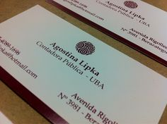 Nuestros trabajos: diseño e impresión de tarjetas personales