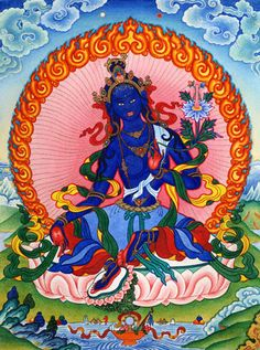 "ARYA TARA TRONYERCHEN: ""Homage, Mother, who hits the earth with the palm of her hand, who pounds on it with her feet. Frowning wrathfully, she shatters the seven underworlds by the sound of HUM."""