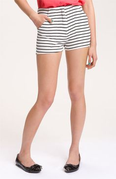 THESE WILL BE MINE. Lush high waist nautical stripe shorts, $34.00   Nordstrom.com