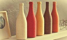 Fuzuê das Artes: Garrafas de vidro decorando nossa casa - Fuzuê das Artes e Ideias para Reduzir/Reutilizar/Reaproveitar