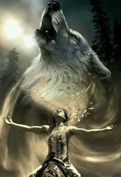 Native American Wolf, Native American Tattoos, Native Tattoos, Native American Paintings, Native American Wisdom, Native American Pictures, American Indian Art, Native American Beauty, American Indians