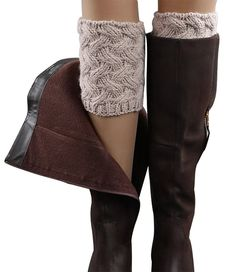 Gillbro Women Short Crochet Boot Cuffs Winter Cable Knit Leg Warmers -- Additional details at the pin image, click it  : Fashion for Christmas