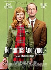 Romantics Anonymous (2011).  A delightful french romantic comedy -  chocolates involved. Available in Netflix Canada.