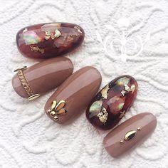 How to choose your fake nails? - My Nails Winter Nail Designs, Gel Nail Designs, Uñas Color Cafe, Korean Nails, Exotic Nails, Uñas Fashion, Japanese Nail Art, Latest Nail Art, Acrylic Nail Art