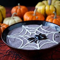 Spooky Black Bean Hummus. I have two standard Halloween recipes in my, ahhem, repertoire. One of them involves baking the equivalent of a 4-layer chocolate cake in the shape of a pumpki