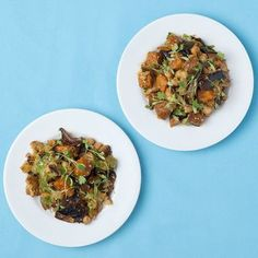 This exciting recipe from Ian Marconi really helps to highlight the flavour of cauliflower. Vegan Zucchini, Zucchini Noodles, Wine Recipes, Vegan Recipes, Zucchini Blossoms, Cauliflower Salad, Fresh Coriander, Roasted Sweet Potatoes