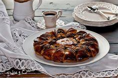 Estrella de Brioche con Crema de Cacao y Mermelada de Frambuesas